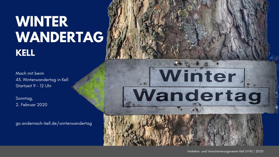 Mach mit beim Winterwandertag in Kell 2020