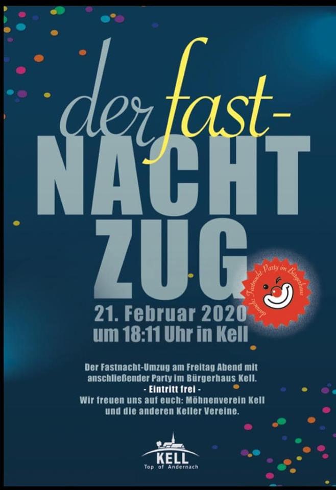 Plakat zum fast-Nacht-Zug 2020
