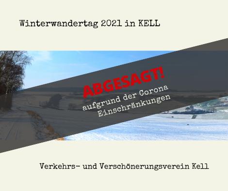 Absage Winterwandertag Kell 2021